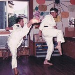 Ishimatsu, Caldwell - Kumite Juren Tsuki Geri Practice July 1973