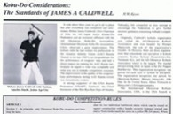 Karate Profiles Magazine, H W Keys, Shihan Jim Caldwell Kobu-Do Article, Jan-Feb 95 #1-thumb3