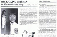 Karate Profiles Magazine, H W Keys, Tiffany Caldwell Kicking Chicken Story, May 93 #1-thumb3