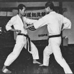 Soryukan, Sasebo, Jp, Michio Koyasu, #1 Performing Taisabaki Kumite Chudan Gyaku Zuki, 1965