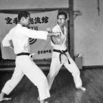 Soryukan, Sasebo, Jp, Michio Koyasu, #10 Performing Taisabaki Kumite Chudan Uchi Uke, 1965