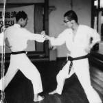 Soryukan, Sasebo, Jp, Michio Koyasu, #11 Performing Taisabaki Kumite Chudan Soto Ken Uchi, 1965