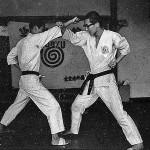 Soryukan, Sasebo, Jp, Michio Koyasu, #13 Performing Taisabaki Kumite Chudan Jodan Age Uke Uke, 1965