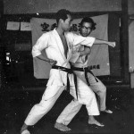 Soryukan, Sasebo, Jp, Michio Koyasu, #16 Performing Taisabaki Kumite Sukui Uke Chudan Hiji Ate, 1965