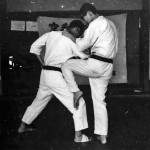 Soryukan, Sasebo, Jp, Michio Koyasu, #19 Performing Taisabaki Kumite Sukui Uke Hiza Geri, 1965