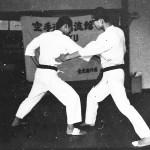 Soryukan, Sasebo, Jp, Michio Koyasu, #21 Performing Taisabaki Kumite Nukite Zuki, 1965