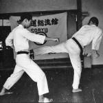 Soryukan, Sasebo, Jp, Michio Koyasu, #4 Performing Taisabaki Kumite Chudan Mawashi Ushiro Geri, 1965