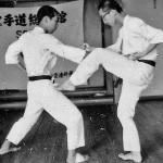 Soryukan, Sasebo, Jp, Michio Koyasu, #7 Performing Taisabaki Kumite Mae Geri, 1965