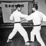 Soryukan, Sasebo, Jp, Michio Koyasu, #9 Performing Taisabaki Kumite Chudan Gyaku Zuki, 1965