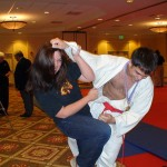 USJJF Nat Champ, Niagra Falls, Ny, Aron & Tiffany Caldwell Fooling Around, Shihan Caldwell & Hanshi Anderson in conference in background, 2007